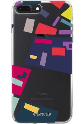 """Caselab Apple iPhone 7 Plus / 8 Plus """"Urban Planning I"""" Tasarımlı Şeffaf Kılıf"""