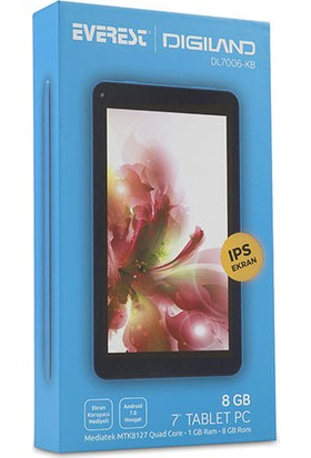 "Everest Digiland DL7006-KB 7"" 8GB IPS WiFi Tablet Mavi"