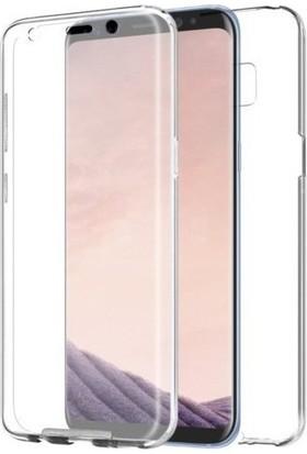 Magazabu Samsung Galaxy S6 Edge Kılıf Şeffaf 360 Derece Tam Kaplayan Silikon