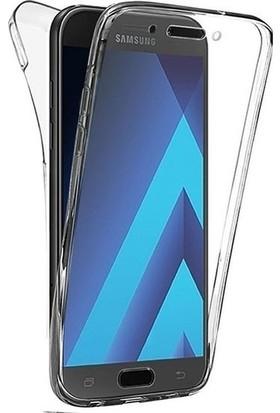 Magazabu Samsung Galaxy J7 Duo Kılıf Şeffaf 360 Derece Tam Kaplayan Silikon