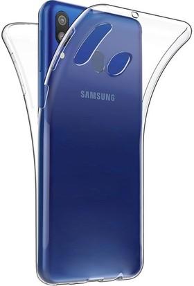 Magazabu Samsung Galaxy M20 Kılıf Şeffaf 360 Derece Tam Kaplayan Silikon