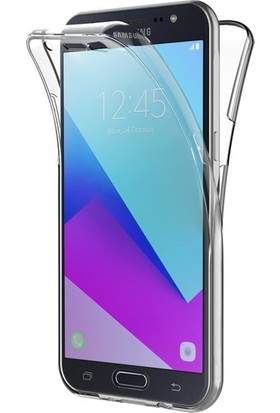 Magazabu Samsung Galaxy J2 Prime Kılıf Şeffaf 360 Derece Tam Kaplayan Silikon