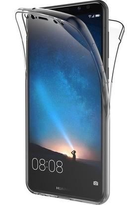 Magazabu Huawei Mate 10 Kılıf Şeffaf 360 Derece Tam Kaplayan Silikon