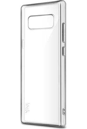 Red Original Samsung Note 8 Slikon Telefon Kılıfı - Şeffaf