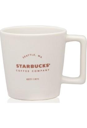 Starbuck's Beyaz Renkli Mat Yılbaşı Serisi Bardak Kupa