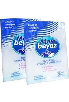 Mavi Beyaz Hasta Temizleme Lifi 20'lik Paket - Köpüklü Sünger - 2 Paket