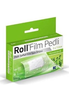 Roll Film Pedli 5 x 7.2 - Steril - Su Geçirmez - Yara Sargısı - Hipoalerjenik - 10 Adet