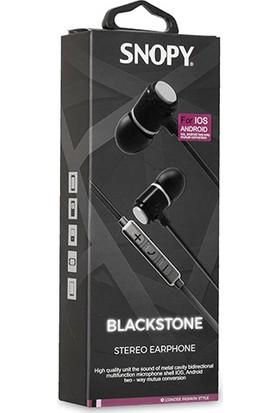 Snopy SN-J03 Blackstone Mobil Telefon Uyumlu Taşıma Çantalı Kulak İçi Siyah/Gümüş Mikrofonlu Kulaklık