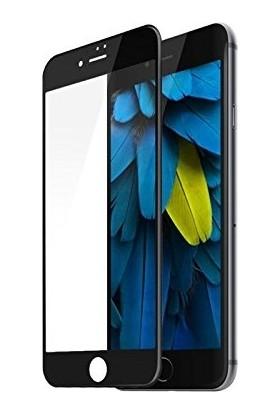 Fulltech Apple iPhone 7 Temperli Kırılmaz Tam Kaplayan Ekran Koruyucu Cam Siyah