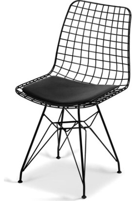Ak Sandalye Tel Sandalye 2'li
