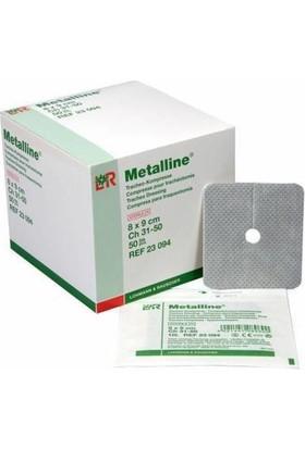 Metalline Trakeostomi Pedi 8 x 9 cm Steril Paketlerde - 10 Adet