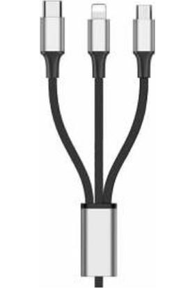 Renksan 3in1 Şarj ve Data Kablosu