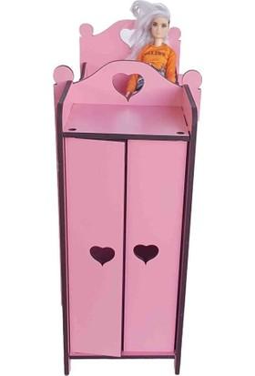 Woodylife Barbie Bebek Baby Alive Uyumlu Ranza ve Gardrop Yatak Odası Oyun Evi