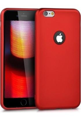 Efsunkar Apple iPhone 6 Plus Kılıf Ultra Lüx Premier Lüx Silikon Kılıf - Kırmızı