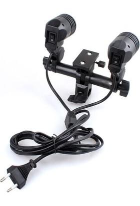 Soundizayn Ikili Duy Soket Şemsiye ve Ampul Adaptörü E-27 Duy