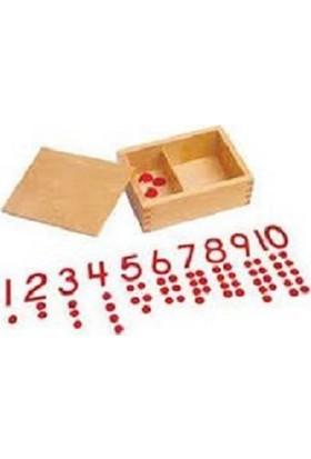 Montessori Sayılar ve Çipler Ahşap