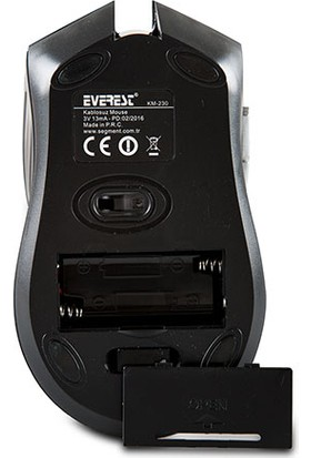 Everest KM-230 Kablosuz Siyah Mouse 14028