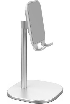 Ally Metal Tablet Masaüstü Standı AL-31465 Gümüş