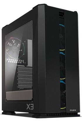 Zalman X3 Black 4 x 12cm RGB LED Fan Midi Tower Bilgisayar Kasası (PSU Yok)