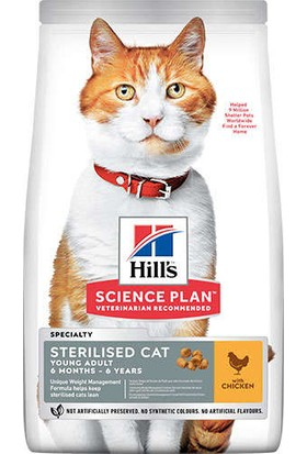 Hills Sterilised Kısırlaştırılmış Tavuklu Kedi Maması 15 kg