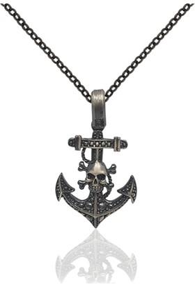Dalman Silver Korsan Çapa Gümüş Kolye
