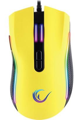 Rampage SMX-R44 Makrolu 6400DPI Rgb Gaming Örgülü Mouse + Msı Gaming Mouse Pad (Sarı)