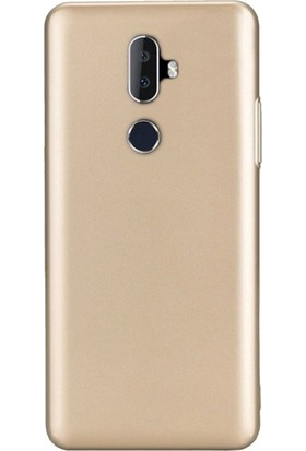 Gpack Alcatel 3V Kılıf Premier Silikon Esnek Koruma + Nano Ekran Koruyucu + Kalem Gold