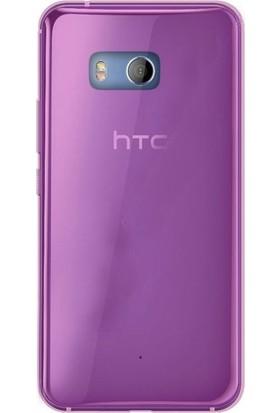 Gpack HTC U11 Kılıf 02 mm Silikon Kılıf + Nano Ekran Koruyucu + Kalem Koruma Pembe