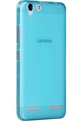 Gpack Lenovo K5 Kılıf 02 mm Silikon İnce Kılıf + Nano Ekran Koruyucu + Kalem Mavi