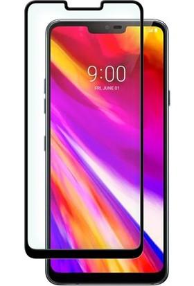 Gpack LG G7 Full Kapatan Renkli Cam Tam Koruma Siyah