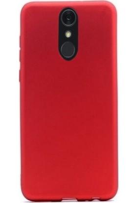 Gpack LG Q7 Plus Kılıf Premier Esnek Lüx Silikon + Nano Ekran Koruyucu + Kalem + Kalem Kırmızı