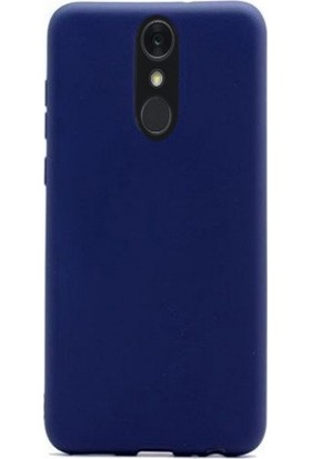 Gpack LG Q7 Plus Kılıf Premier Esnek Lüx Silikon + Nano Ekran Koruyucu + Kalem + Kalem Lacivert