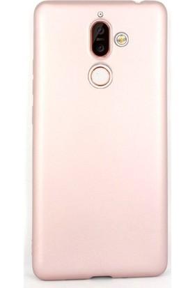 Gpack Nokia 7 Plus Kılıfları Kılıf Premier Silikon Koruma + Nano Ekran Koruyucu + Kalem Bronz