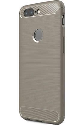 Gpack OnePlus 5T Kılıf Room Silikon Lüx Arka Koruma + Nano Ekran Koruyucu + Kalem Bej