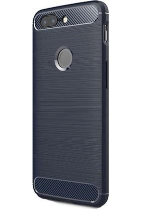 Gpack OnePlus 5T Kılıf Room Silikon Lüx Arka Koruma + Nano Ekran Koruyucu + Kalem Lacivert