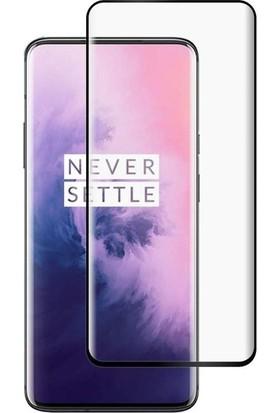 Gpack OnePlus 7 Pro Full Kapatan Renkli Cam Tam Koruma Siyah