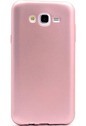 Gpack Samsung Galaxy A8 2015 Kılıf Premier Silikon Kılıf + Nano Ekran Koruyucu + Kalem Koruyucu Bronz