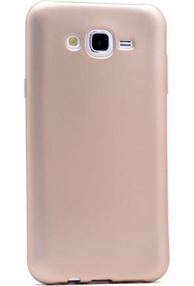 Gpack Samsung Galaxy A8 2015 Kılıf Premier Silikon Kılıf + Nano Ekran Koruyucu + Kalem Koruyucu Gold