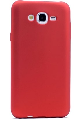 Gpack Samsung Galaxy A8 2015 Kılıf Premier Silikon Kılıf + Nano Ekran Koruyucu + Kalem Koruyucu Kırmızı