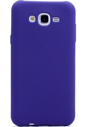 Gpack Samsung Galaxy A8 2015 Kılıf Premier Silikon Kılıf + Nano Ekran Koruyucu + Kalem Koruyucu Lacivert