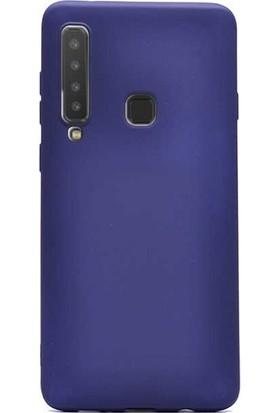 Gpack Samsung Galaxy A9 2018 Kılıf Premier Silikon + Nano Ekran Koruyucu + Kalem + Kalem Lacivert