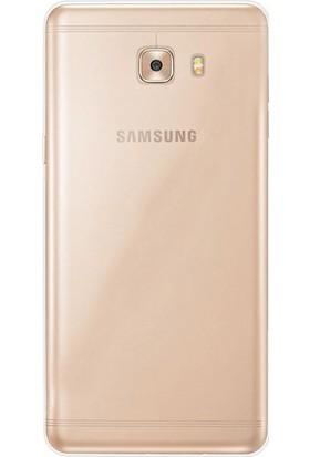 Gpack Samsung Galaxy C9 Pro Kılıf 02 mm Silikon + Nano Ekran Koruyucu + Kalem Şeffaf