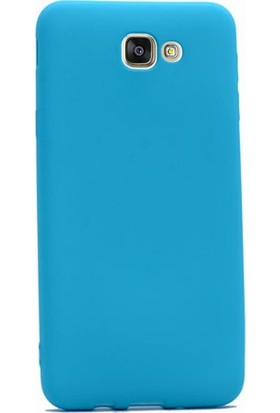 Gpack Samsung Galaxy J5 2015 Kılıf Premier Silikon Kılıf + Nano Ekran Koruyucu + Kalem Koruyucu Mavi