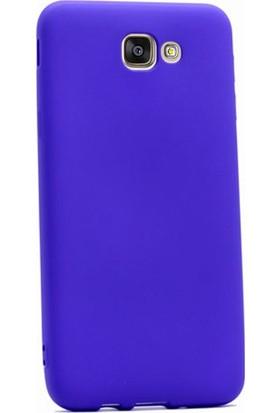 Gpack Samsung Galaxy J5 2015 Kılıf Premier Silikon Kılıf + Nano Ekran Koruyucu + Kalem Koruyucu Mor