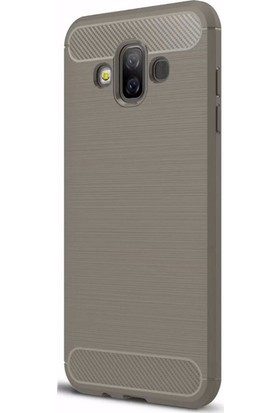 Gpack Samsung Galaxy J7 Duo Kılıf Room Silikon + Nano Ekran Koruyucu + Kalem Ekran Koruyucu Bej