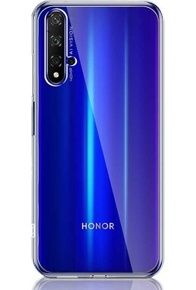 Gpack Huawei Nova 5T Kılıf Süper Silikon Yumuşak Arka Koruma + Nano Ekran Koruyucu + Kalem Şeffaf