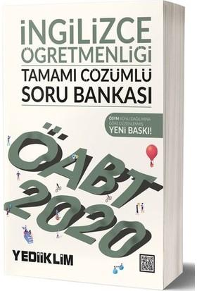 Yediiklim Yayınları 2020 KPSS ÖABT İngilizce Öğretmenliği Tamamı Çözümlü Soru Bankası