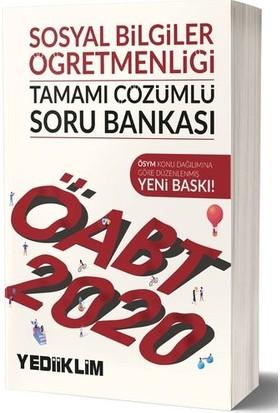 Yediiklim Yayınları 2020 KPSS ÖABT Sosyal Bilgiler Öğretmenliği Tamamı Çözümlü Soru Bankası