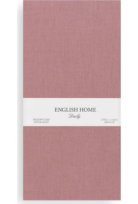 English Home Düz Pamuklu 2'Li Yastık Kılıfı 50X70 Cm Urban Tarçın