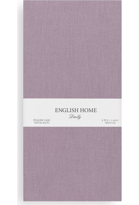 English Home Düz Pamuklu 2'Li Yastık Kılıfı 50X70 Cm Urban Mor